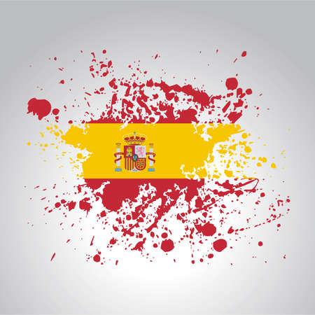 Spanish flag in artistic version in vector