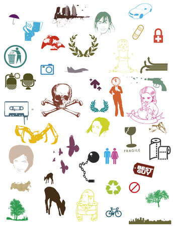 very colorful various vector in collection