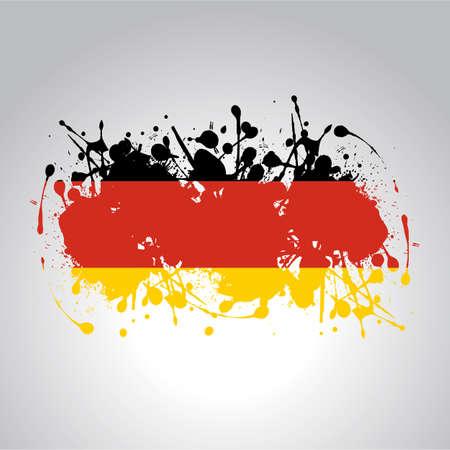 german flag in artistic version in vector Ilustración de vector