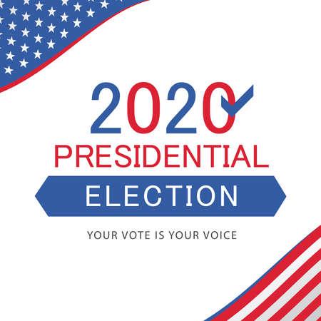 USA presidential election 2020 concept