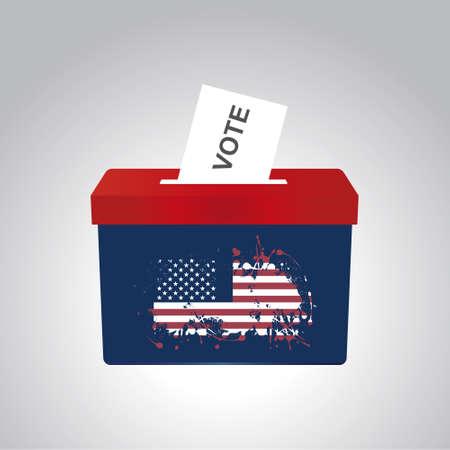 bundle box for american election in vector Illusztráció