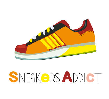 sneakers collection of modern sportswear. Can be used for topics like fitness, fashion, sports activity