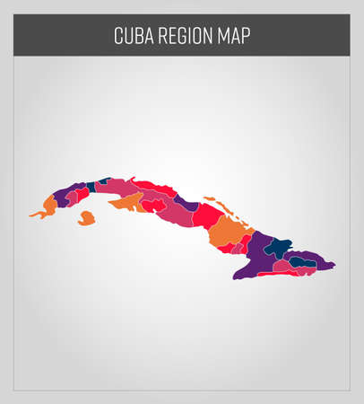 cuba map, colorful map in vector 向量圖像