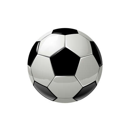realistic soccer ball in vector