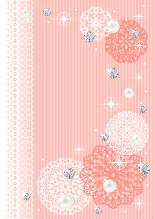 pearls: This image is a background pattern for women.