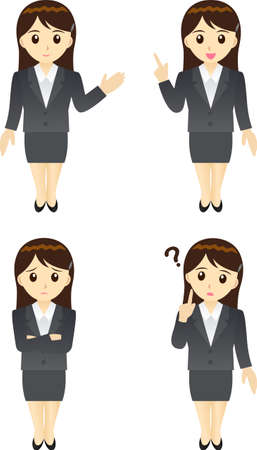 annoyance: This illustration is a female office worker in Japan.