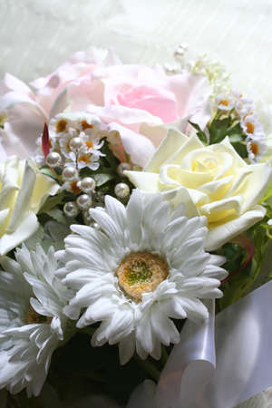 Wedding bouquet of artificial flowers Stock Photo - 14384370