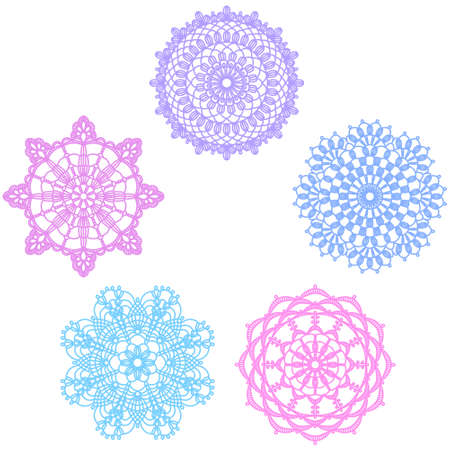 Pattern of lace doily Vector