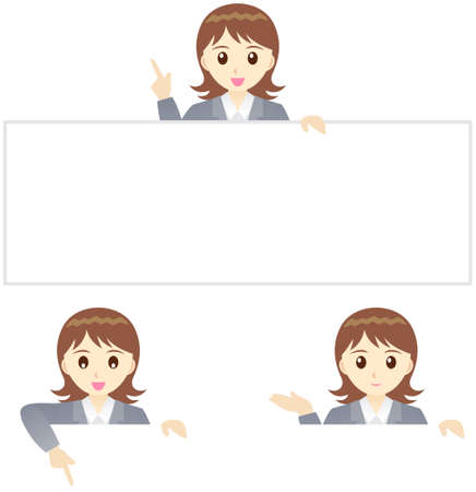 endearing: This illustration is a female office worker in Japan.