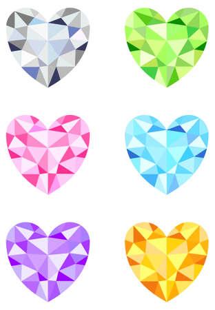 Hartvormige Diamonds Stock Illustratie