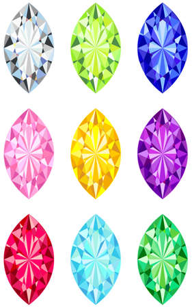 Marquis cut diamonds Stock Vector - 14752993