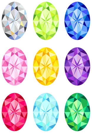 Oval cut diamonds Vector
