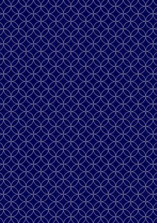 Cloisonne pattern a traditional Japanese pattern Illustration