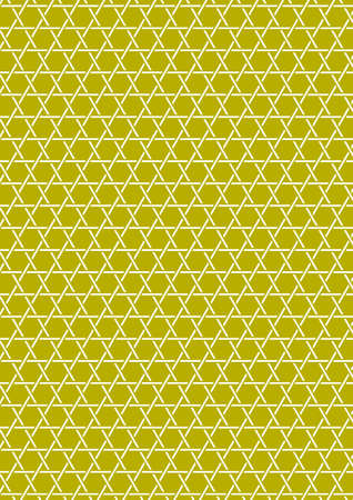 hexagram: Traditional Japanese basket pattern