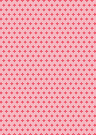 Traditional Japanese flower rhombus pattern 일러스트