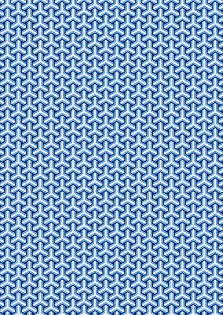 Traditional Japanese tortoiseshell pattern 일러스트