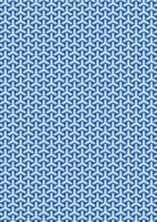 Traditionele Japanse schildpad patroon Stock Illustratie