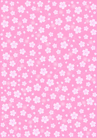 pale: Background pattern of cherry blossoms