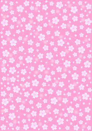 fleurs de cerisiers: Motif de fond de cerisiers en fleurs