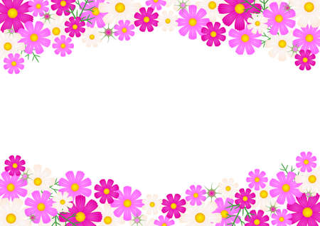 photo corner: Cosmos flower - background Illustration
