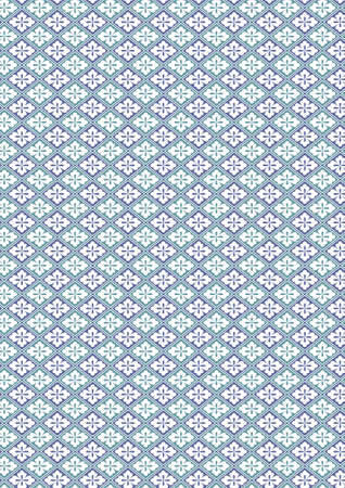 Traditional Japanese flower rhombus pattern Vector