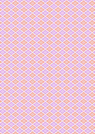 伝統的な日本の花菱形パターン  イラスト・ベクター素材