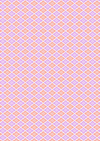 Traditional Japanese flower rhombus pattern Illustration