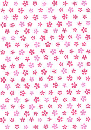 梅の花 - スポットのパターン  イラスト・ベクター素材