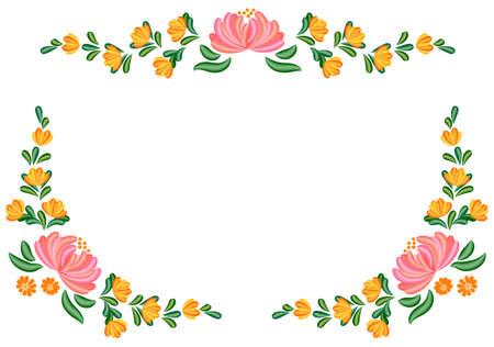 Bloemen Tole schilderij Stock Illustratie