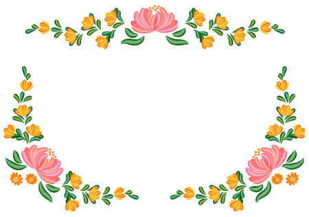 Floral Tole painting Stock Vector - 15420596