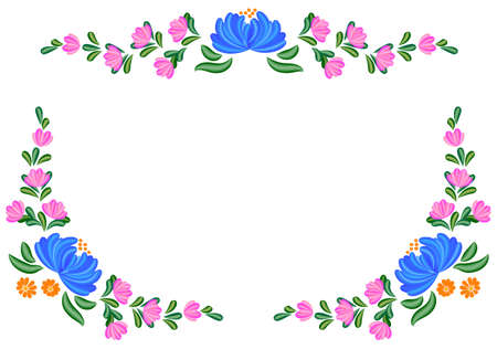 folk: Floral Tole painting