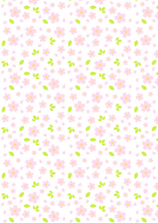 japanese motif: Background pattern of cherry blossoms