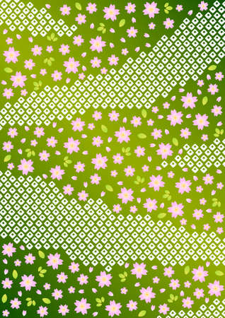 Japanese background pattern of cherry blossoms