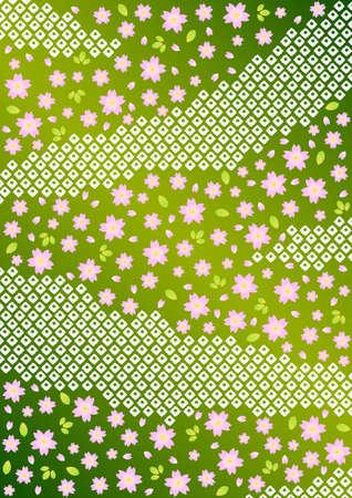 Japanse achtergrond patroon van de kers bloesems Stock Illustratie