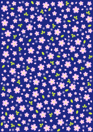 Japanese background pattern of cherry blossoms Vector