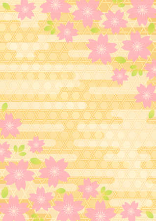 Background pattern of Japanese cherry blossoms Stock Vector - 17002143