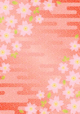 日本の桜の背景パターン  イラスト・ベクター素材