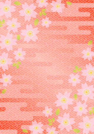 Background pattern of Japanese cherry blossoms
