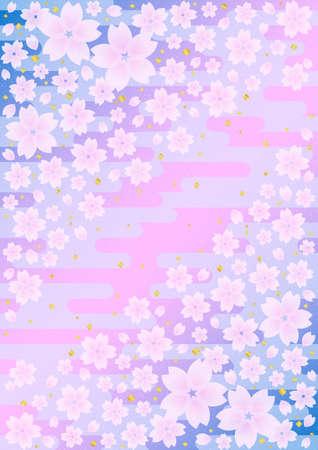 日本の桜の背景パターン 写真素材 - 17002120