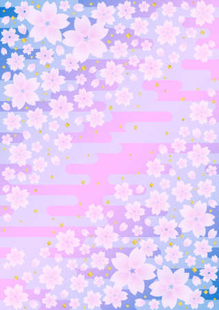 typically: Background pattern of Japanese cherry blossoms