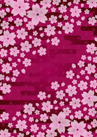 nengajo: Background pattern of Japanese cherry blossoms