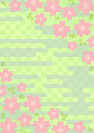 Background pattern of Japanese cherry blossoms Vector