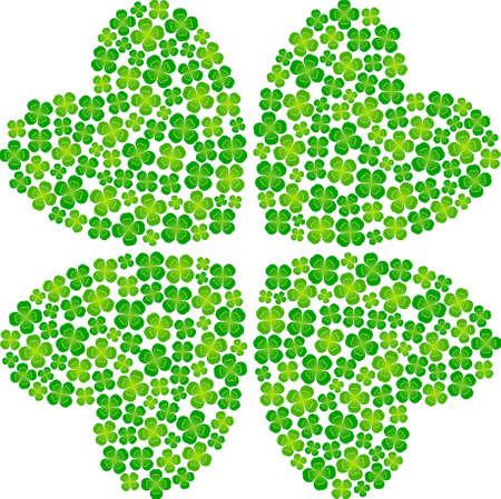 four leaf: cuatro de hoja de tr�bol