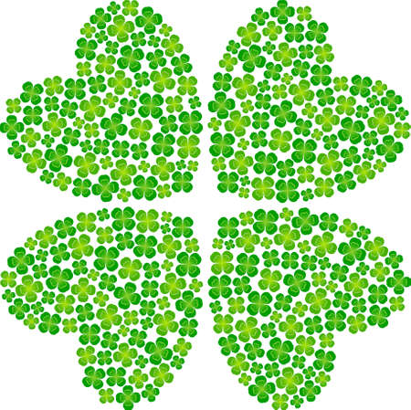 leaved: four leaf clover Illustration