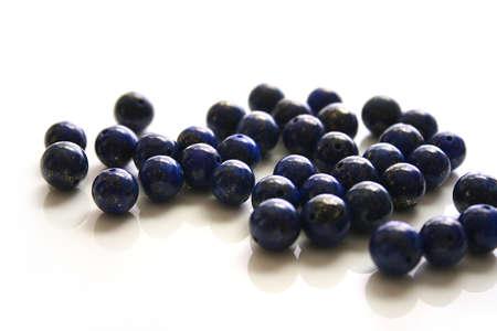Beads of lapis lazuli 写真素材