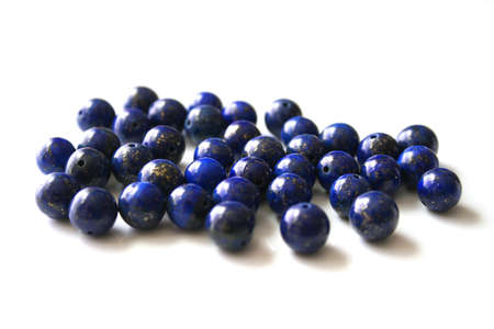 lapis: Beads of lapis lazuli Stock Photo