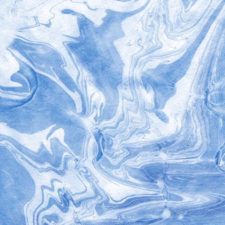 blue paint: Japanese paper of Paper marbling pattern