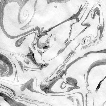blanco y negro: Papel japon�s de patr�n marmoleado Papel Foto de archivo