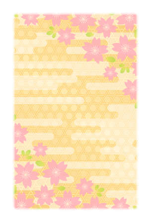 japan pattern: Background material for New Years card postcard size