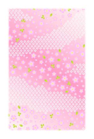 新年のカードはがきサイズの背景素材  イラスト・ベクター素材